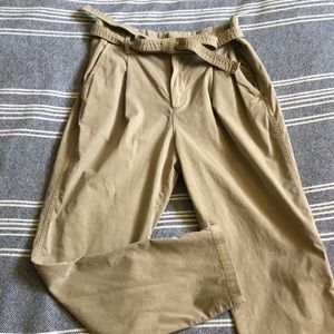 Retro chino paper bag waist pants Gap size 8 🍡